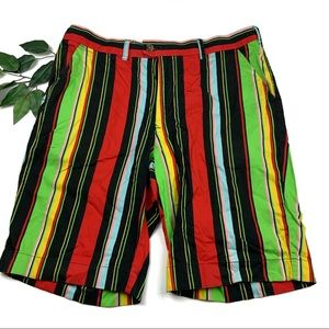 ❌SOLD❌ Loudmouth Golf Hot Dog Stripe Casual Shorts